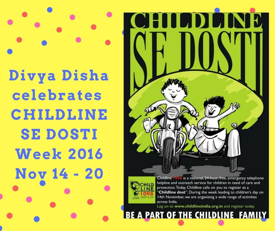 Divya Disha Celebrates CHILDLINE Se Dosti Week 2016