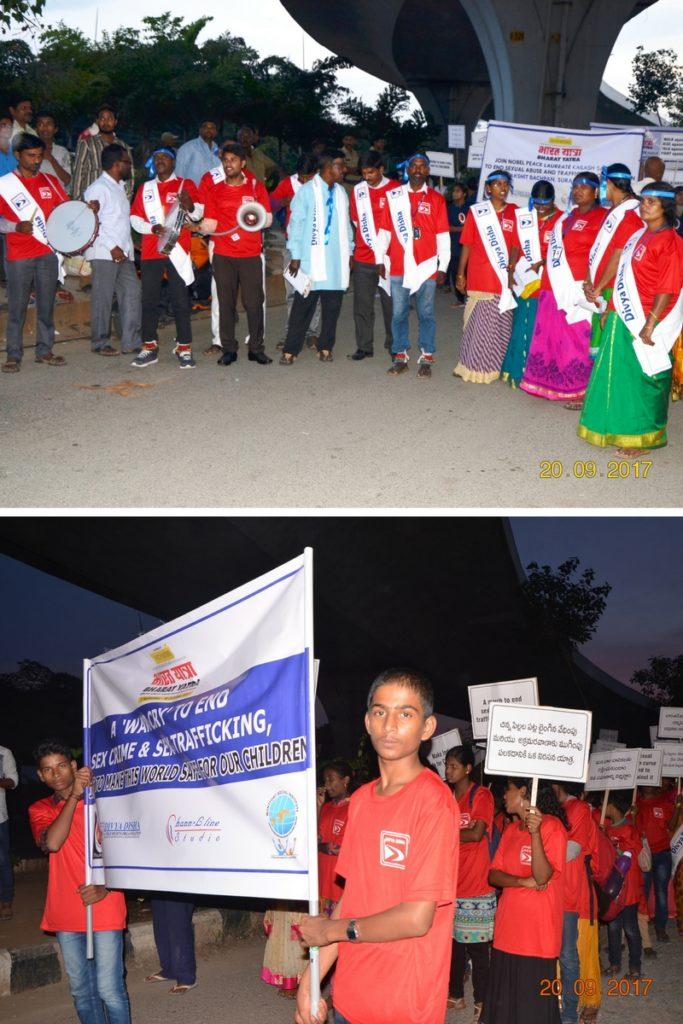 Divya Disha Children Participate In Bharat Yatra
