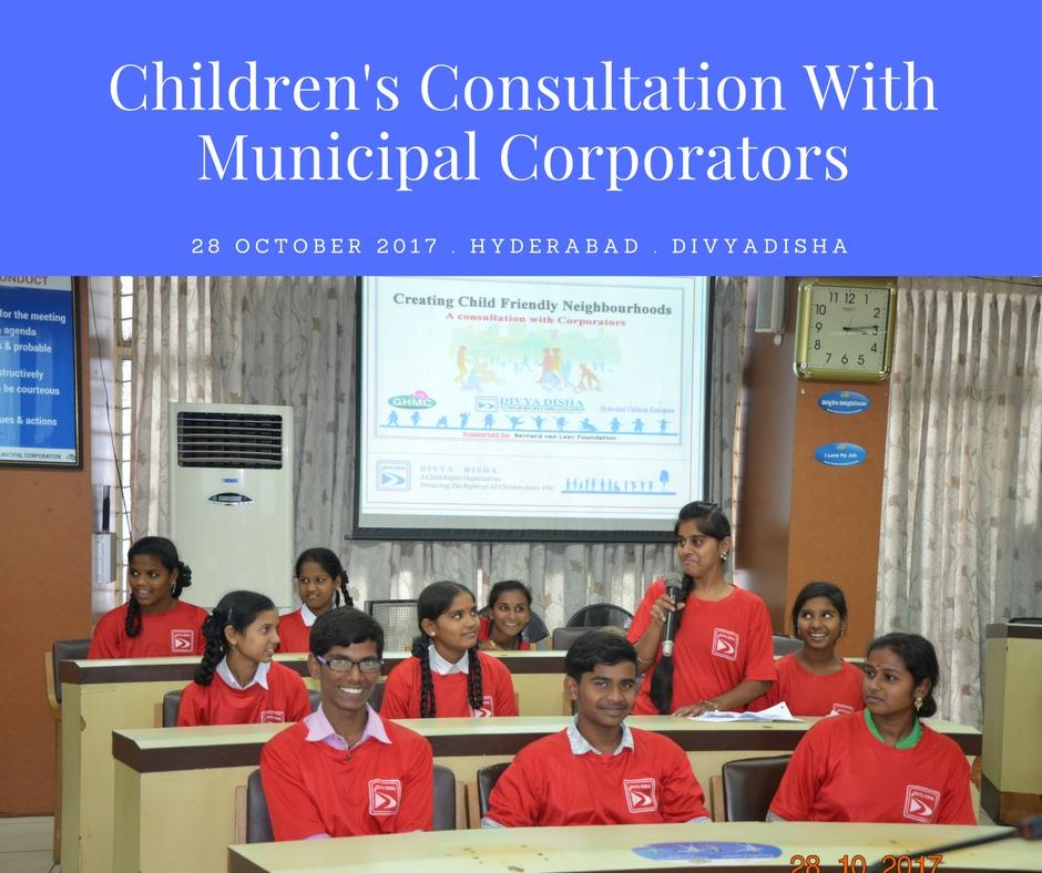 Children's Consultation With GHMC Corporators #childfriendlycities #Urban95