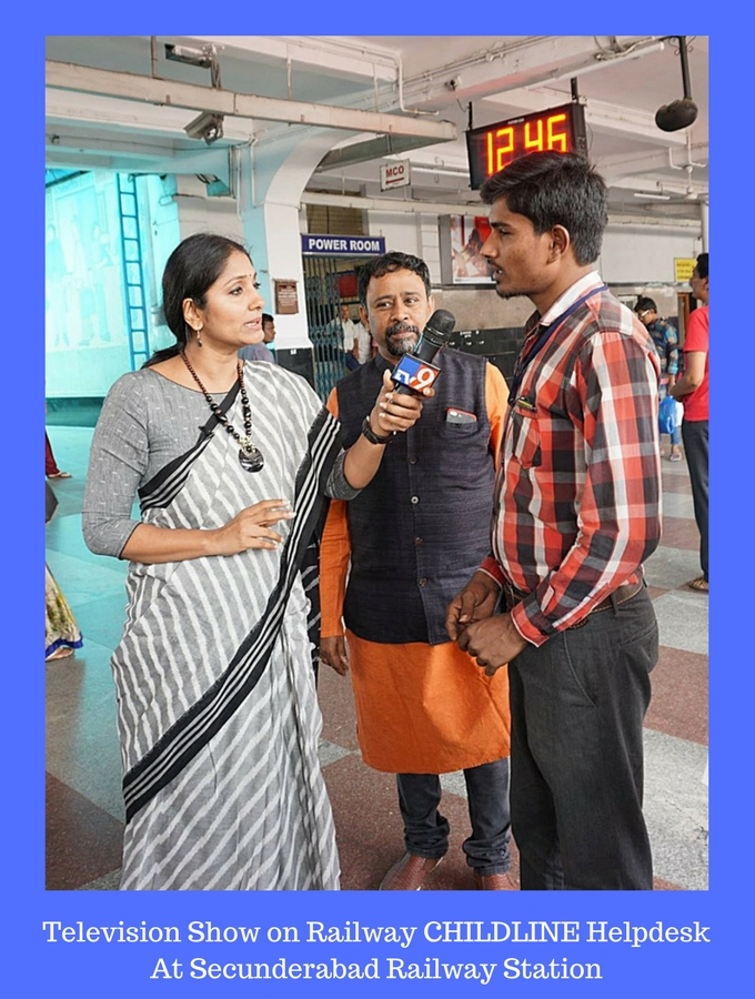 Television Show on Railway CHILDLINE Help Desk At Secunderabad