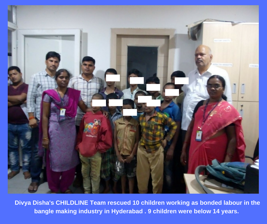 10 Children Rescued From Bonded Labour by Divya Disha