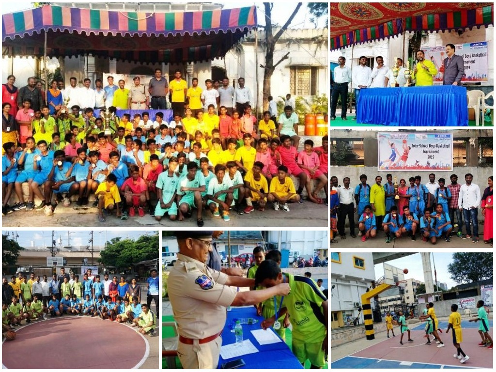 Boys from Govt. Schools Explore their Skills in Basketball.